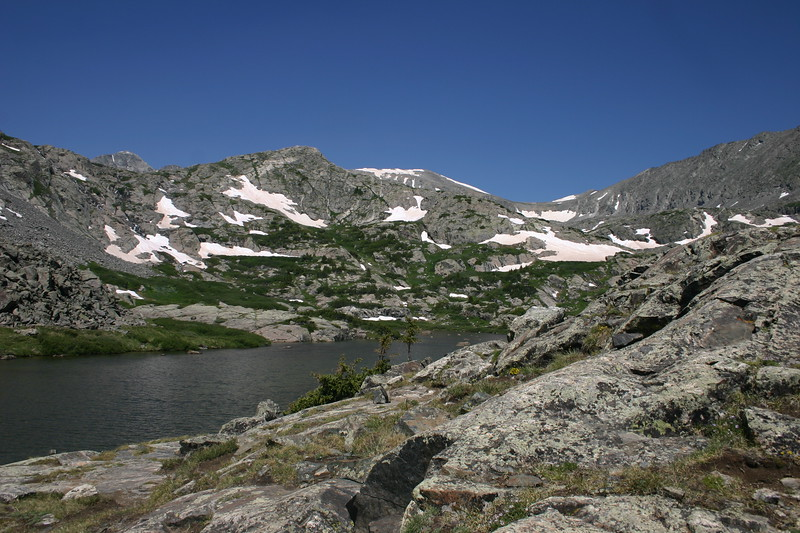 Pond below the peaks
