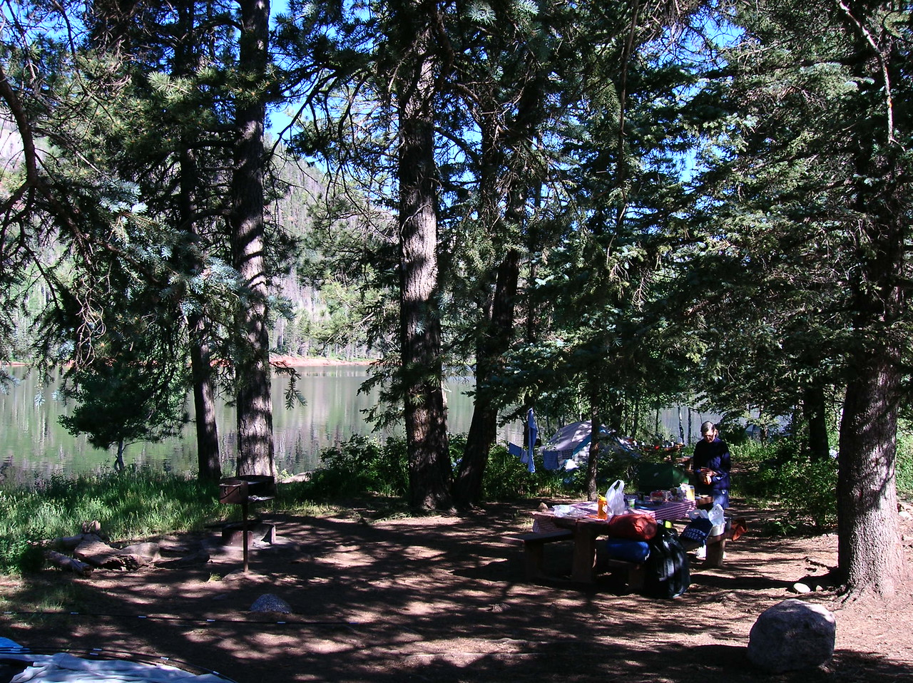 Camping on a lake above Durango