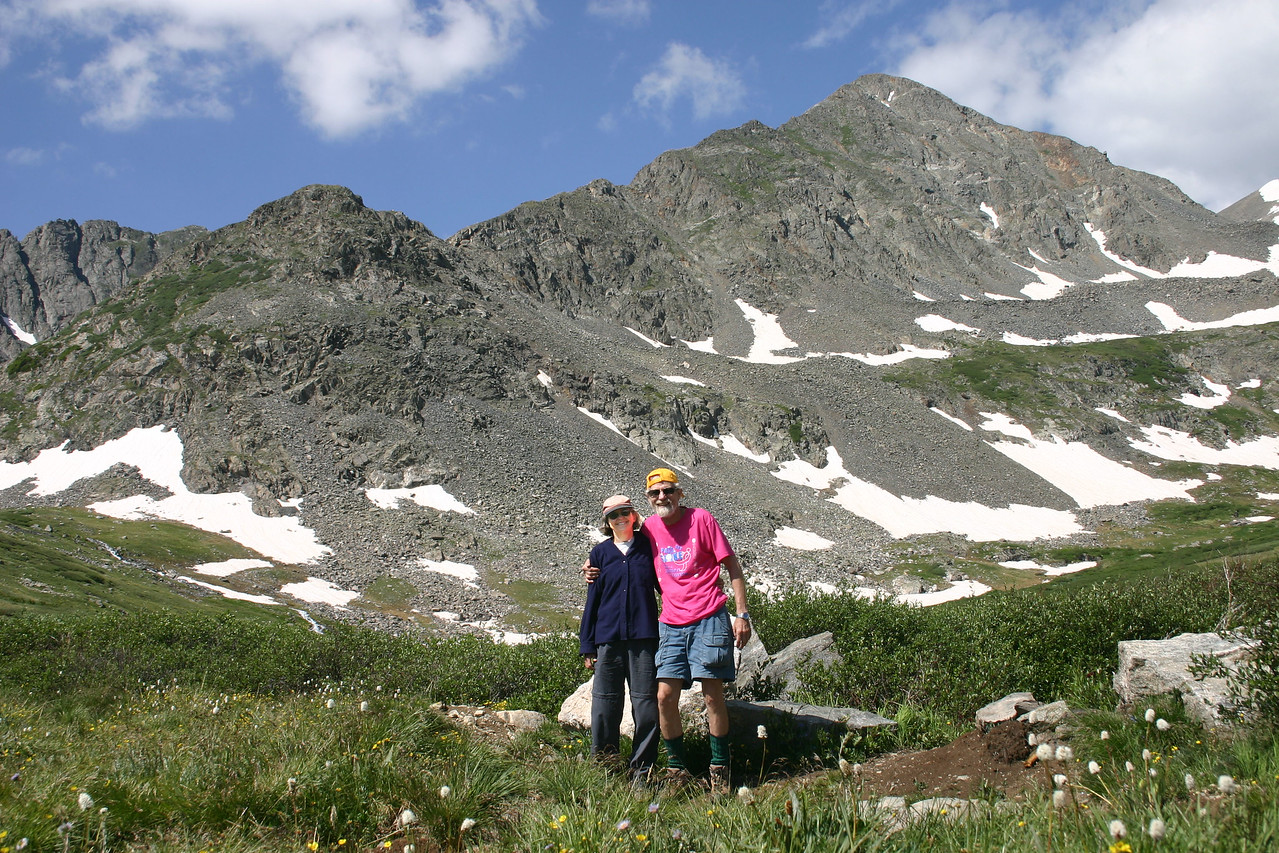 Nat and Debby in alpine basin above Brekenridge.