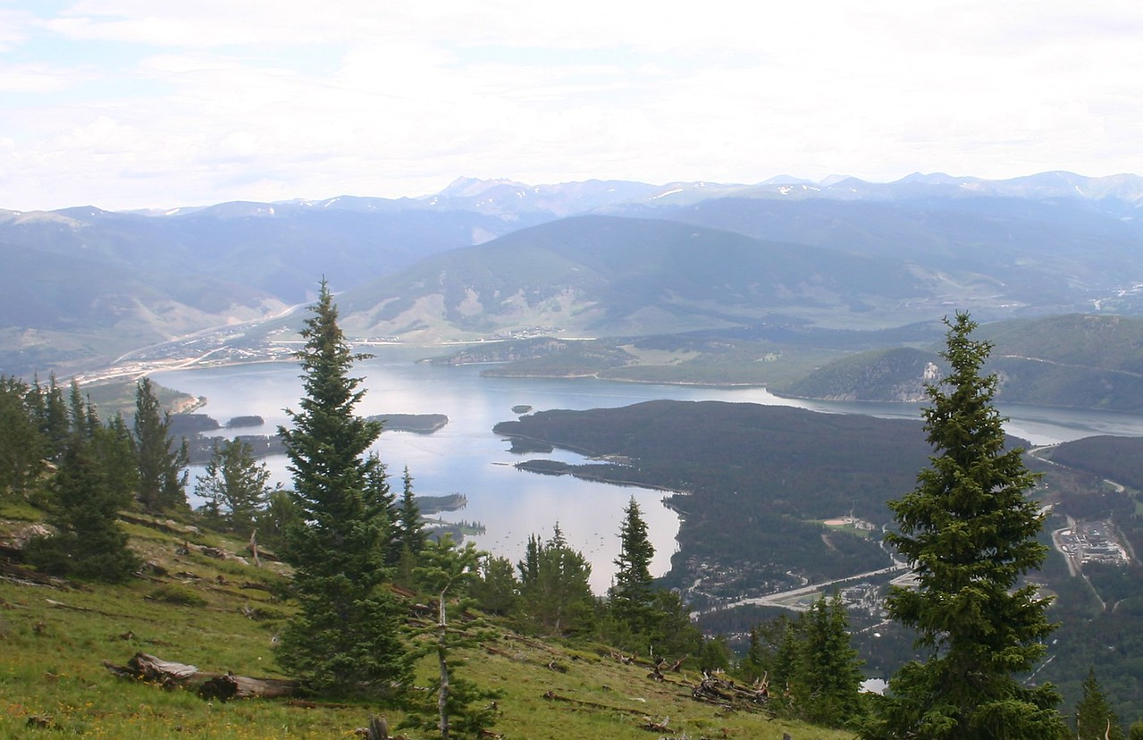 Lookiing over Lake Dillon.