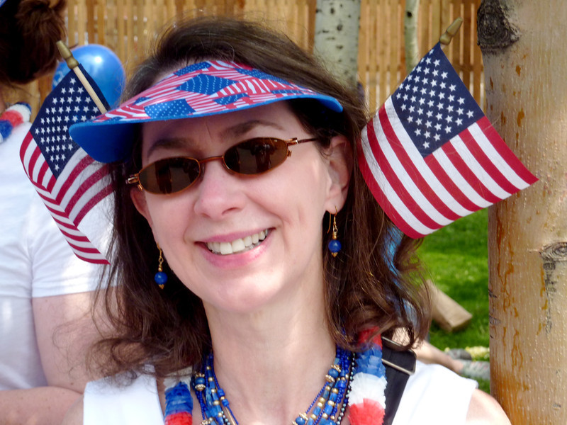 Jeane all set for the Aspen 4th of July parade