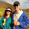 Craig and Jeane celebrate a safe landing