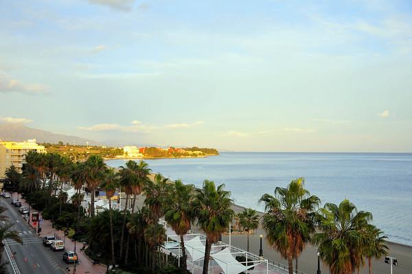 Her eit bilde teke frå hotellet vårt i Estepona..