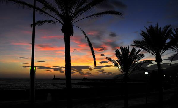 Fine og milde kveldar i Almeria..