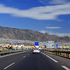 På vegen heim frå Marbella til Almeria på motorveg i ca 25 mil med to kjøyrebanar i kvar retning og fartsgrense på 120kmh..
