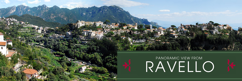 PANORAMIC VIEW FROM RAVELLO, ITALY