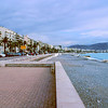 Promenade des Anglais and beach, Nice France.