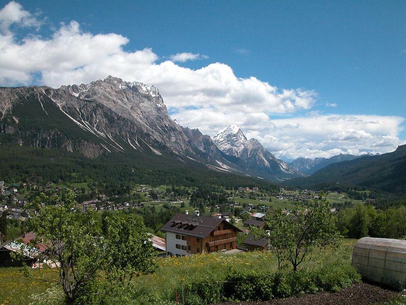 Climbing out of Cortina towards Pocol