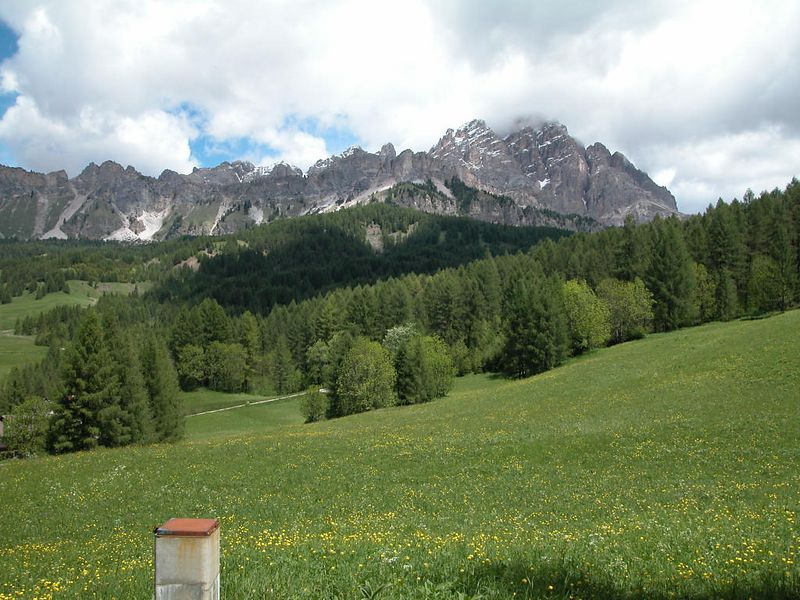 Road from Misurina to Cortina