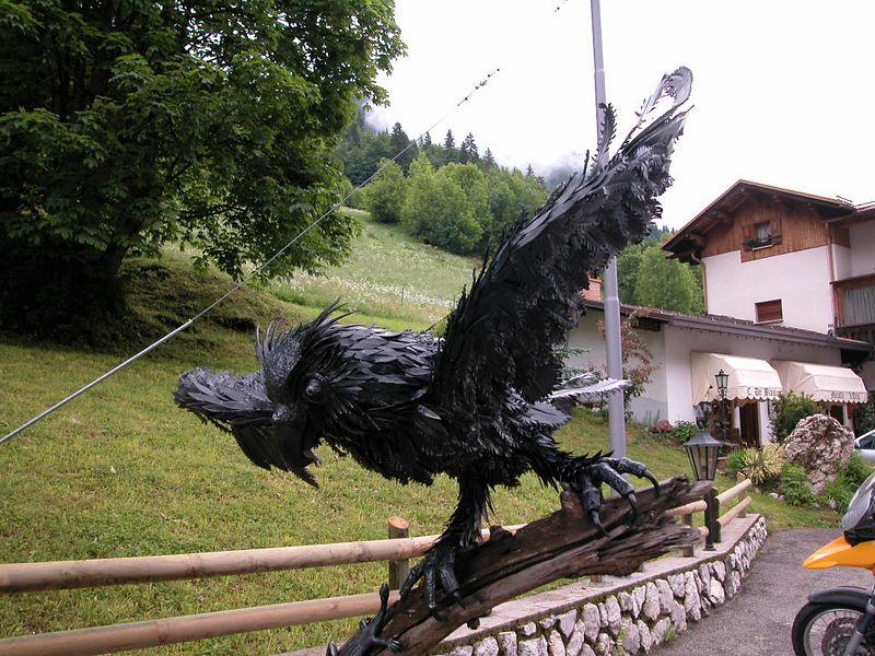 The work of a talented metalworker in the village of Pian, near the Serai di Sottoguda