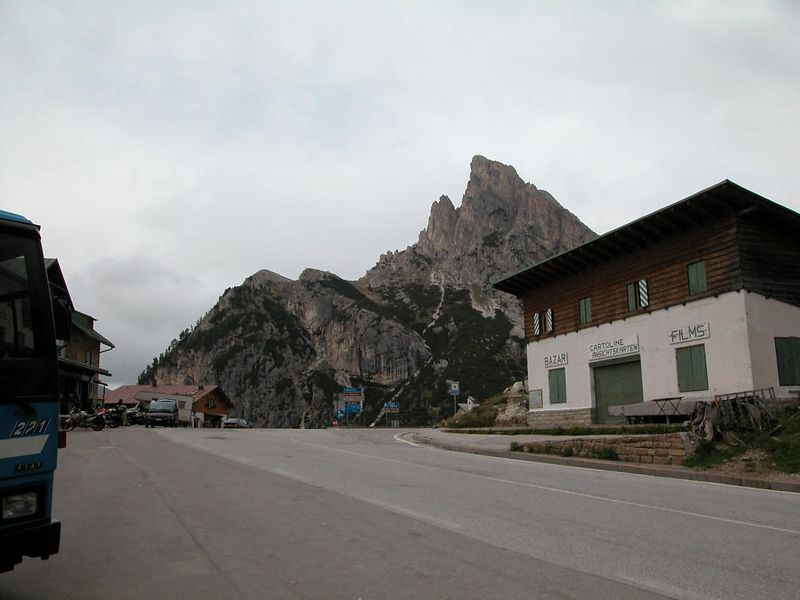 Passo Falzarego looking west