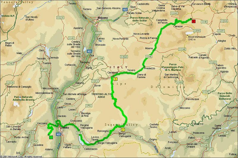 Day 2<br /> Monte Bondone to Arabba