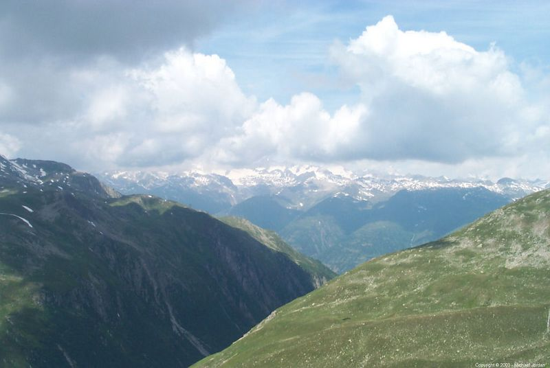 From Neufenen Pass, looking south-east