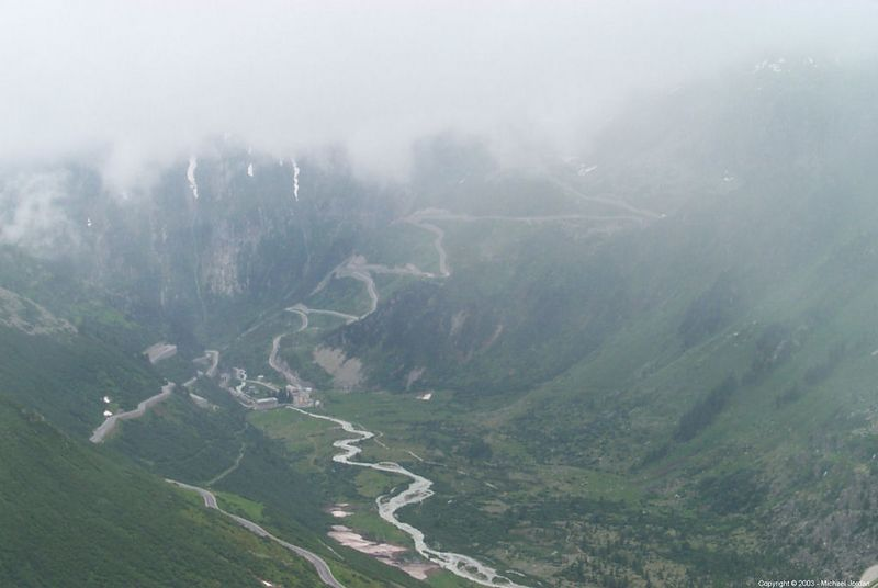 Rhonetal (Rhone Valley) with low hanging clouds