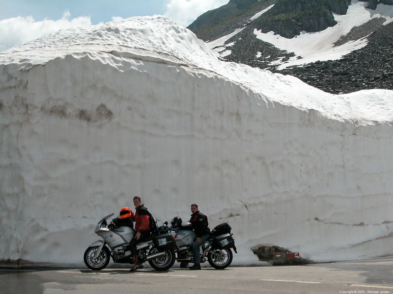 Neufenen Pass - I think that they cultivate this snowbank for pictures.