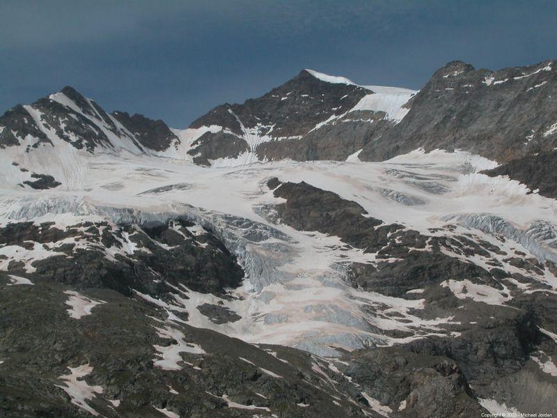 Glacier on Bernina Pass.