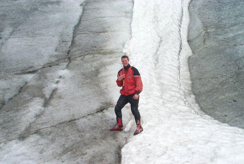 Sean on the Rhone Glacier