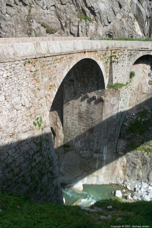 The Teufelbruke (Devil's Bridge) just outside Andermatt, Switzerland