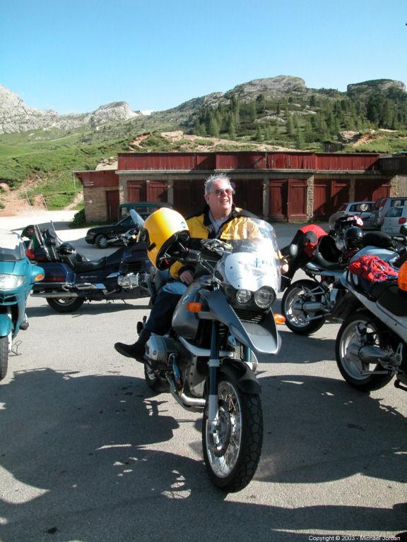 Intrepid Traveler on Passo Falzarego
