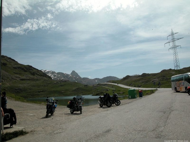 Bernina Pass just before ducking back into Italy.