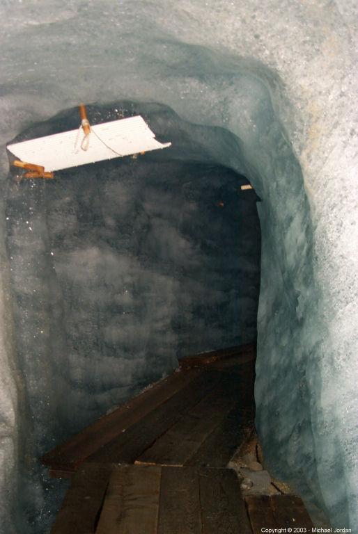 Inside the glacier - roof leak