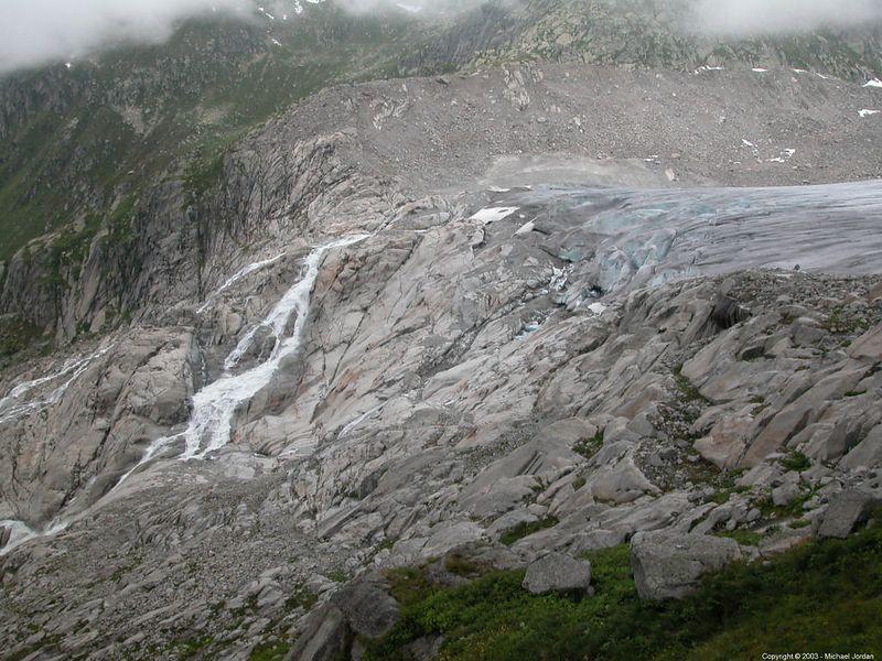 Rhone Glacier and river