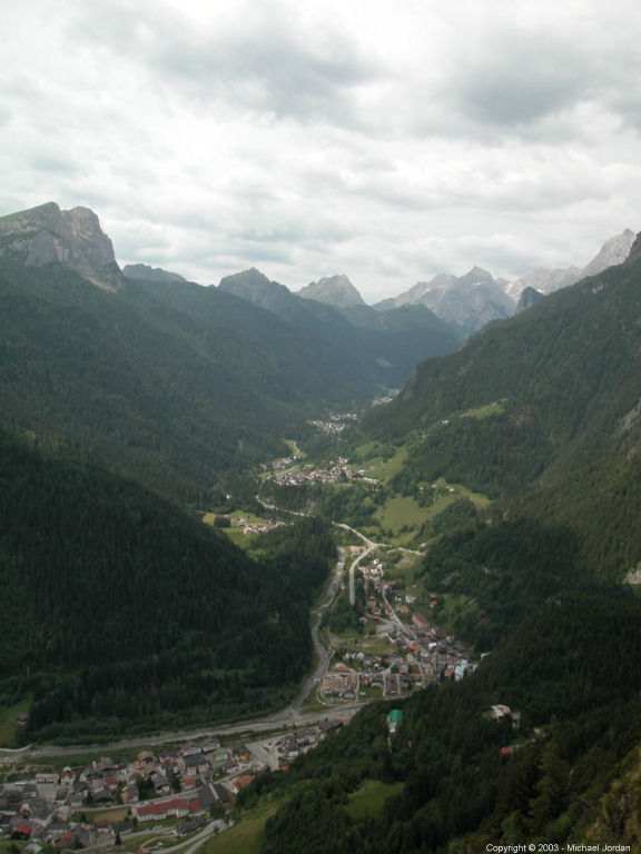 Looking west from same - the village of Pian is in the distance