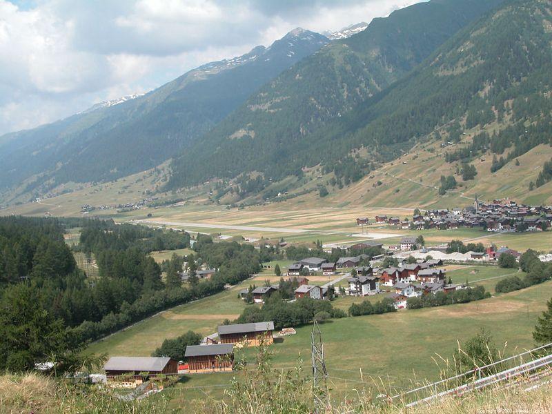 Swiss military airstrip at Ulrichen