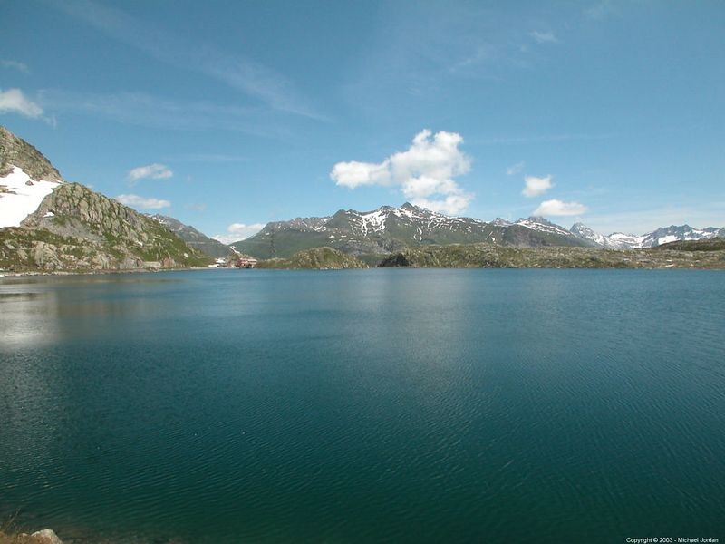 Lake at the Grimsel Pass
