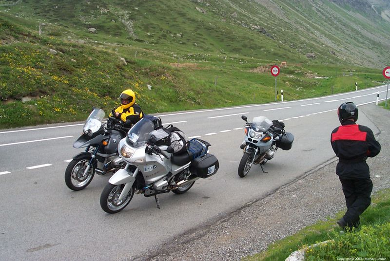 Photo stop on Grimsel Pass road
