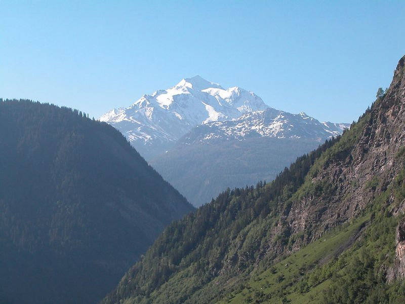 Mont Blanc again, from the Cormet de Roselend road in France