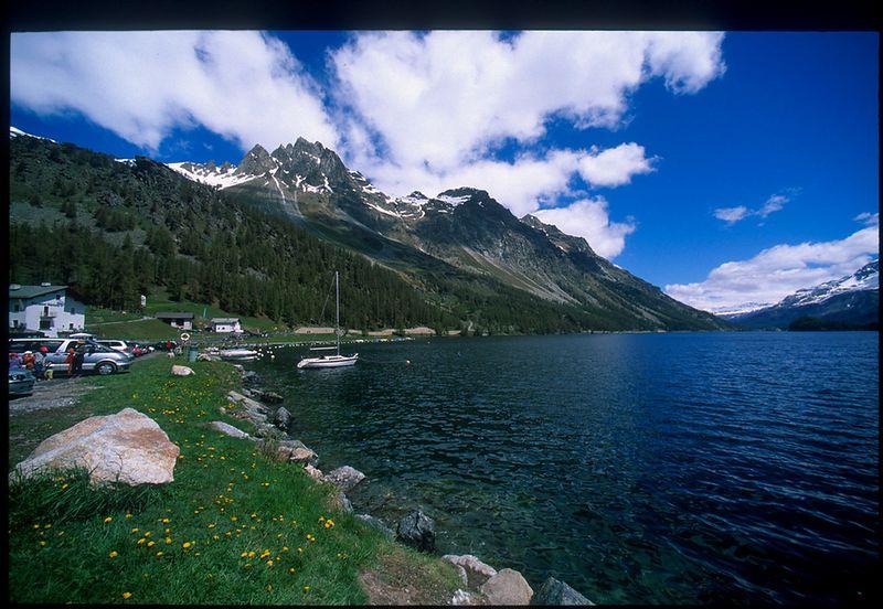 Lake south of St. Moritz, near Maloja Pass