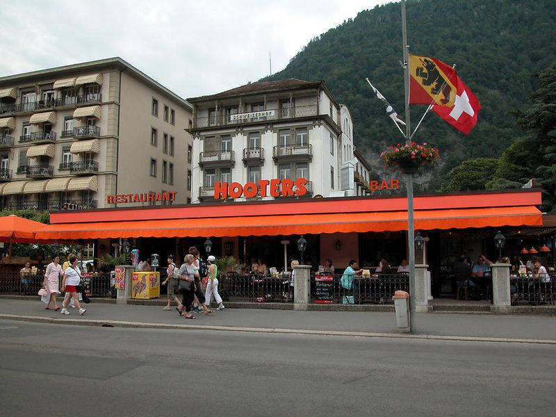 Interlaken, Switzerland. I backed my bike into a parking spot, looked up, and saw...