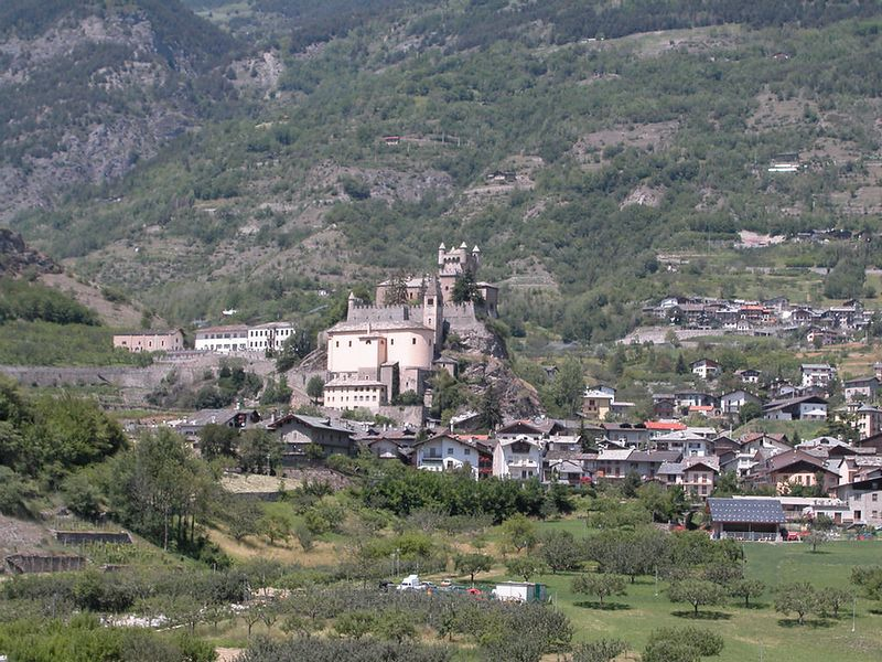 Castle in the Val D'Aosta