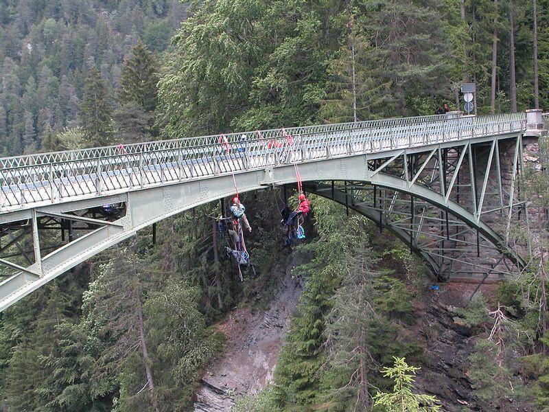 Just hanging around with friends. Road between Bonaduz and Ilanz in Switzerland.