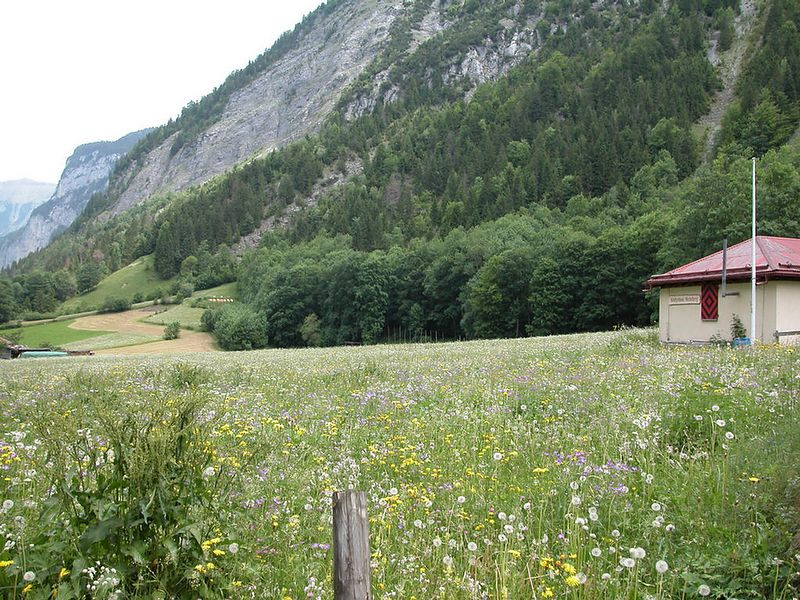 Another shooting range. Near the avalanche shelter near Gimmelwald. The Swiss take their marksmanship seriously.