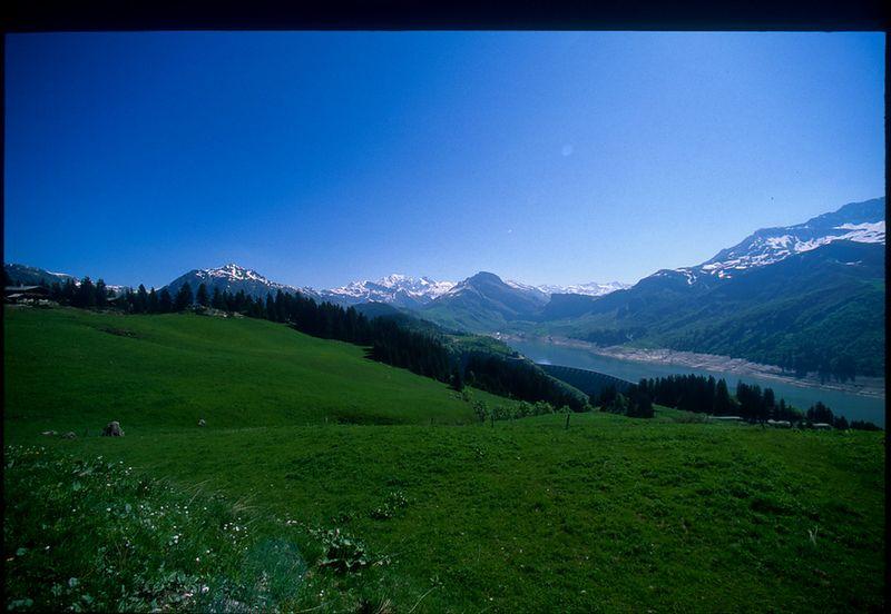 Le Cormet de Roselend - Mont Blanc in the background