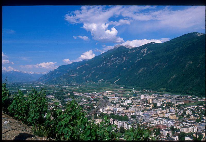 Martigny, Switzerland from the Col de la Forclaz road
