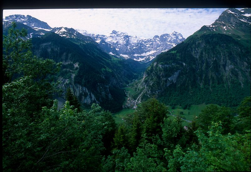 View from the Klausen Pass - east of Altdorf in Uri, Switzerland