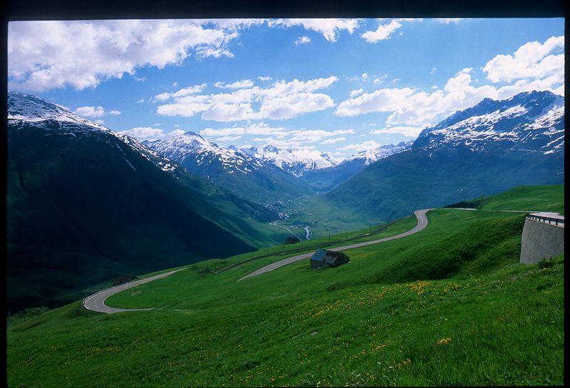 Realp / Hospental / Andermatt from the Furka Pass