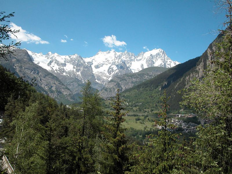 Mont Blanc - actually Monte Bianco, since I'm in Italy. Working my way up the Piccolo Passo San Bernardo to France.