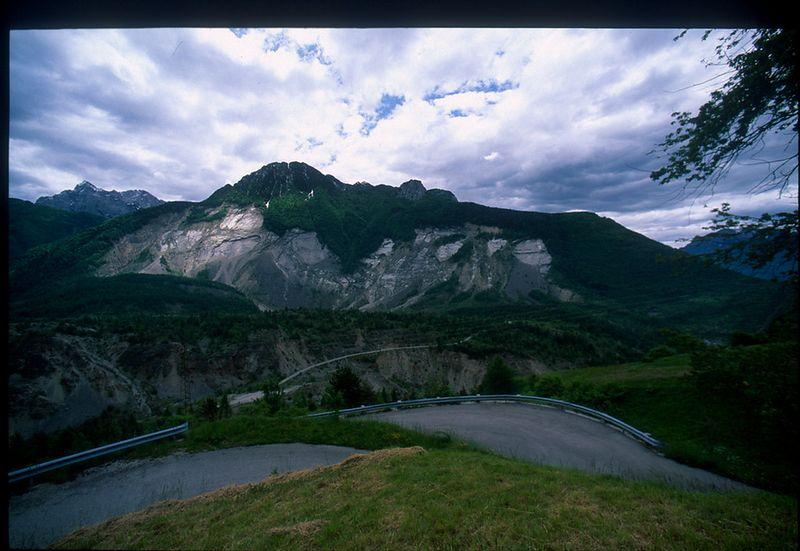 Mont Toc - Vajont - site of 1963 landslide