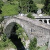 Old bridge beside the road to Zermatt, Switzerland