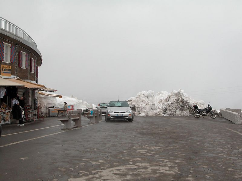 Passo dello Stelvio. it's snowing (lightly)