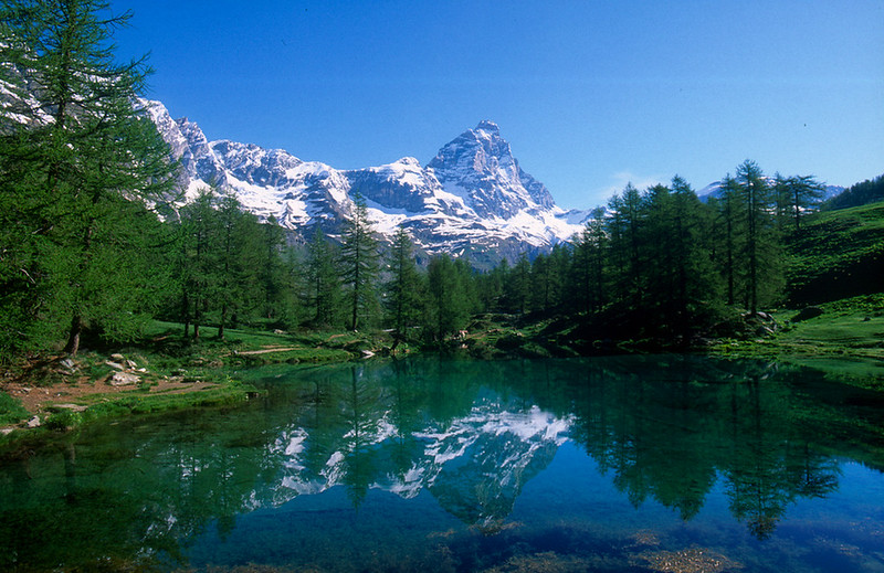 Monte Cervinia from Lago Blue