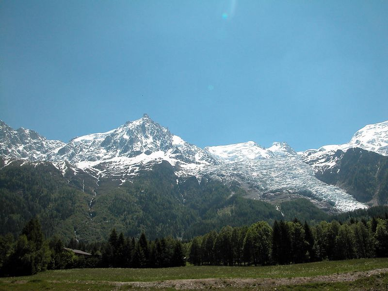 Mont Blanc from just outside Chamonix, France