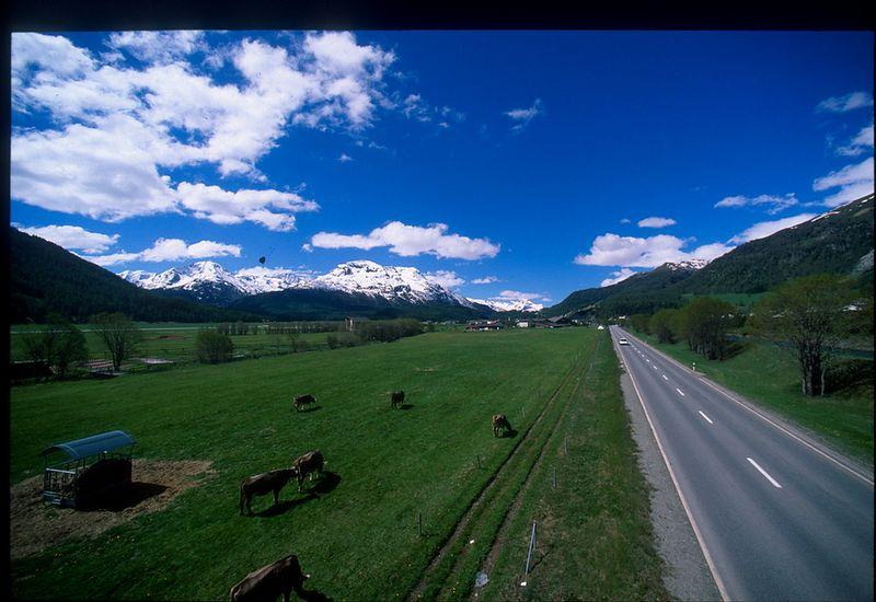 Swiss countryside near St. Moritz
