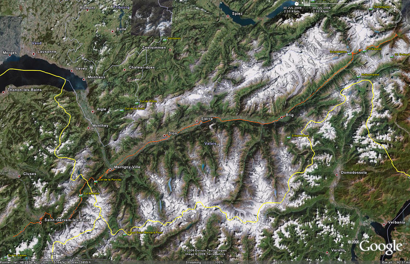 July 27 - Had a strong desire for a final Ramseier Apfelsaft, so it's ack to Andermatt. Took three tries to find a hotel with an open room.