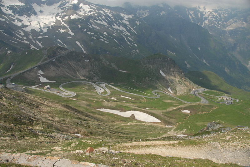 Looking down from the Edelweissspitze - Grossglockner