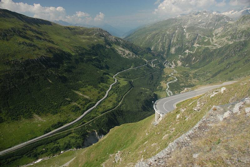 Switzerland - lower Furkapass road